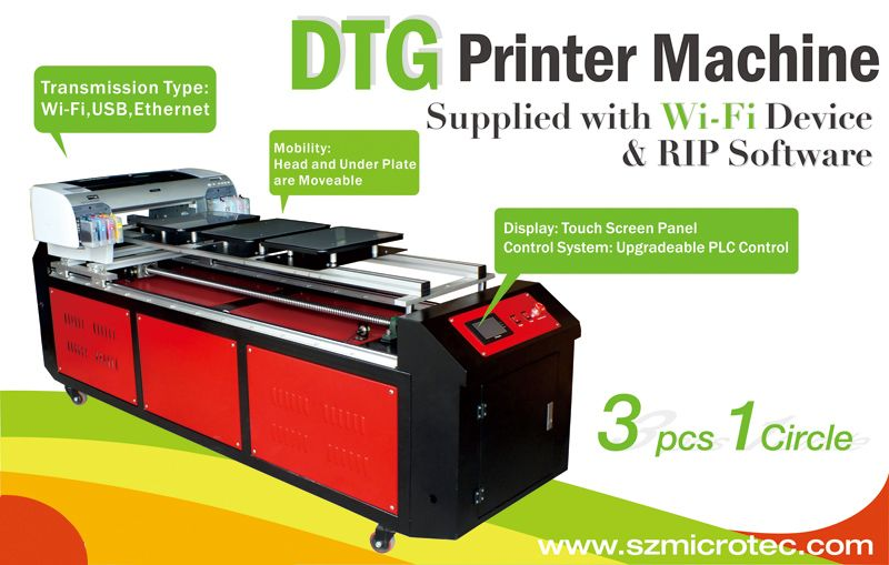 A2 size high efficient dtg printer apex uv printer for T shirt screen printers for sale